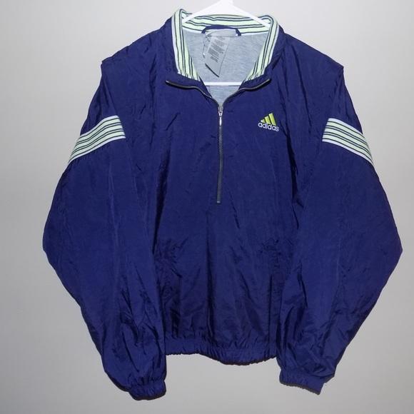 05b926bb07d5 adidas Jackets   Coats   Vintage 12 Zip Up Pullover Jacket   Poshmark